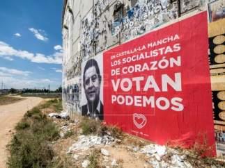 Cartel censurado por la junta electoral