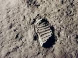 Huella humana sobre la Luna