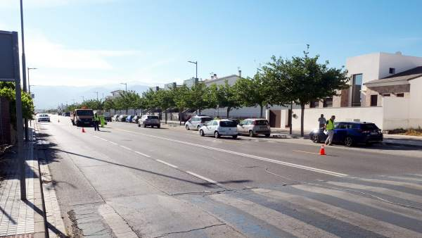 Granada.- Comienzan las obras de construcción de la glorieta de Churriana de la Vega