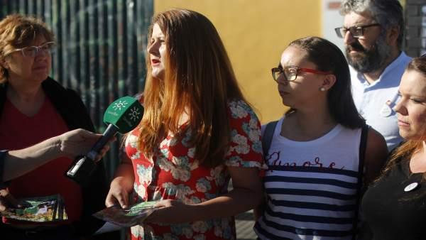 Sevilla.- 26M.- Susana Serrano promete un 'plan renove' para los colegios con medidas de 'bioclimatización'