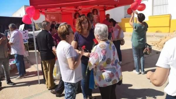 Huelva.- 26M.- PSOE pide el apoyo de la ciudadanía de Aljaraque para 'continuar con una buena gestión en el municipio'