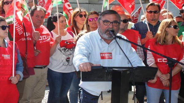 Sevilla.- 26M.- Vidán (CCOO) llama a votar a candidaturas 'progresistas' para 'seguir frenando a la ultraderecha'
