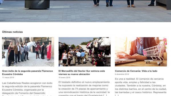 Córdoba.- El Ayuntamiento pone en marcha la 'web' de la Delegación de Fomento del Desarrollo Económico y del Comercio