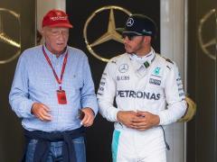 Niki Lauda y Lewis Hamilton