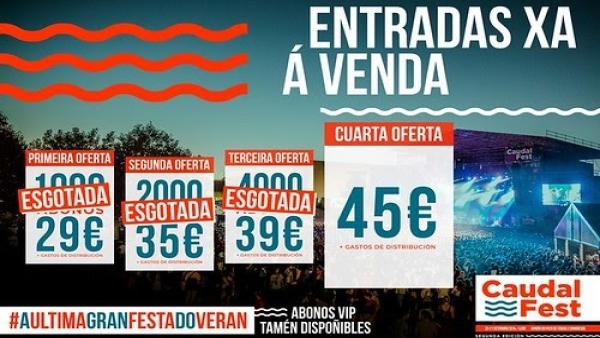 El festival Caudal Fest de Lugo vende más de 7.000 abonos en horas