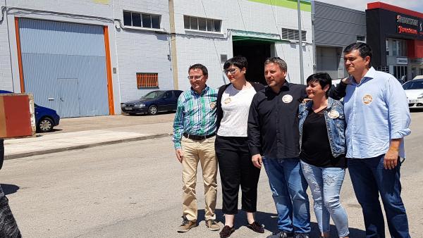 26M.- Soro (CHA) Escucha Las Reivindicaciones Del Sector Del Taxi En Zaragoza