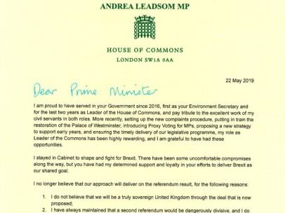 La carta de la jefa del grupo parlamentario.