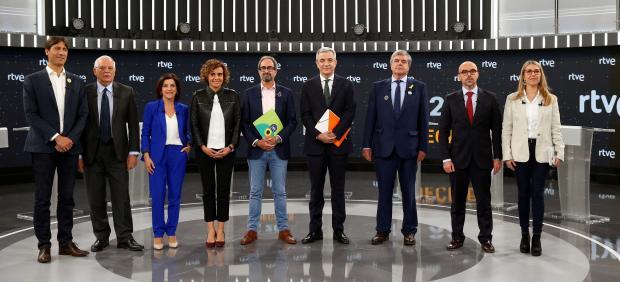 El nacionalismo enturbia el debate a nueve de las europeas en RTVE