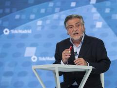 Pepu Hernández, durante el debate en Telemadrid