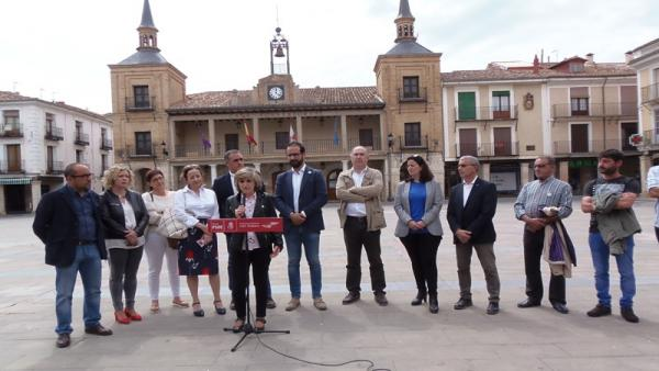 Foto PSOE Soria. Carcedo en El Burgo de Osma