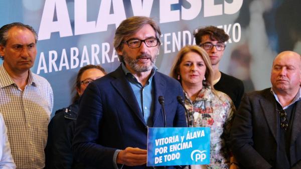 PP cree que vencerá en Álava, pero no descarta un posible apoyo al PNV para evitar un Gobierno de EH Bildu en Vitoria