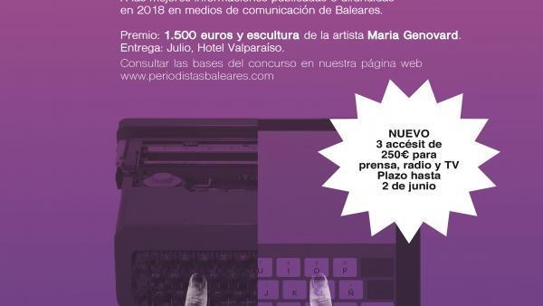 La APIB incorpora 750 euros en accésit para prensa, radio y TV a los IV Premios de Periodismo