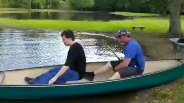 Las canoas en familia pueden ser traicioneras