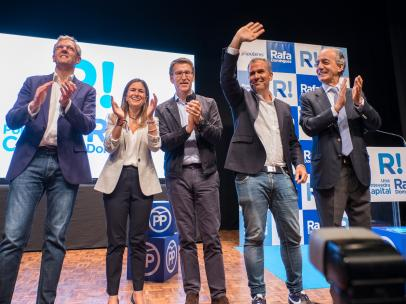 26M.- Feijóo Acusa A Pedro Sáchez De Tener Un Gobierno 'Oculto' Con Podemos Y ERC Dentro De Él