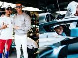 Lewis Hamilton, Cristiano Ronaldo y su hijo