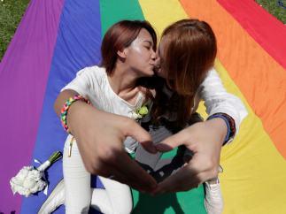 Beso arco iris