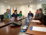 Reunión de la candidata de Foro a la Presidencia del Principado, Carmen Moriyón, y el presidente de FADE,  Belarmino Feito