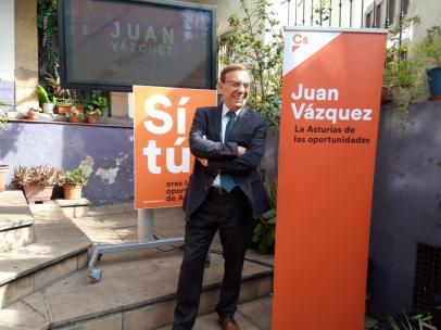 26M-A.- Vázquez ve en Ciudadanos el verdadero pivote sobre el que se debe articular la gobernabilidad de Asturias