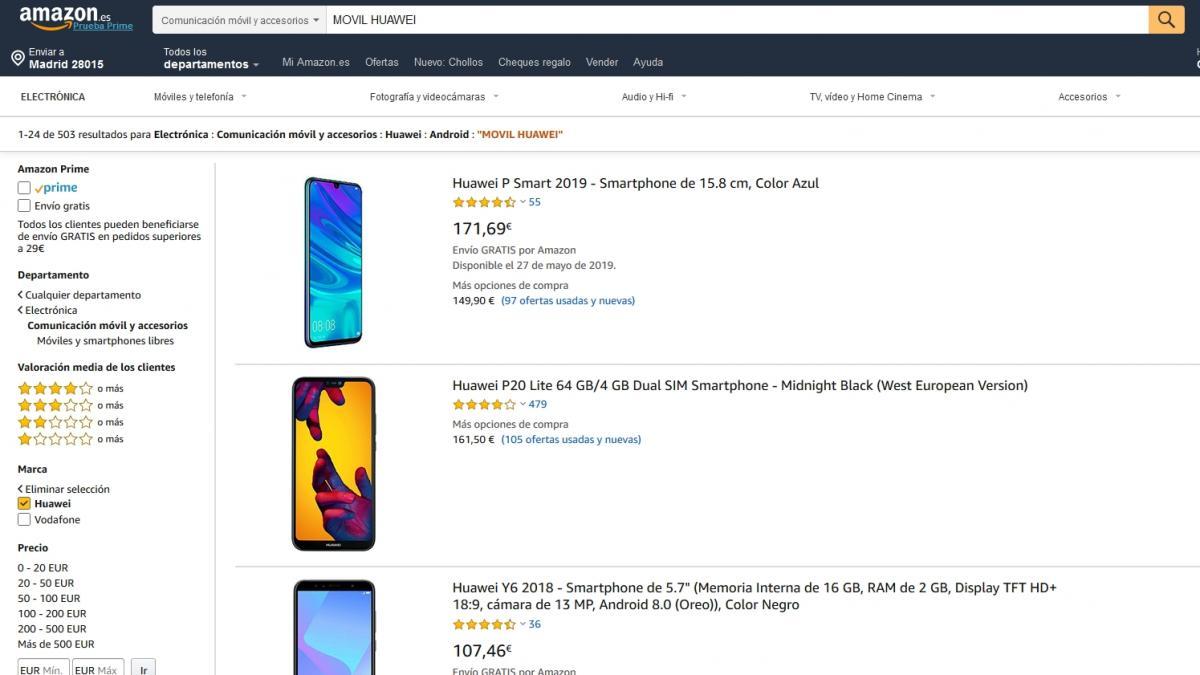 ¿Cuánto han bajado de precio los teléfonos móviles de Huawei?