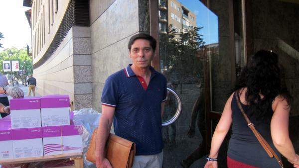 Trib.- El ex presidente de Asaja en Valladolid, Lino Rodríguez, cumple su primera noche en prisión