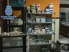 Medicamentos incautados en Valencia.