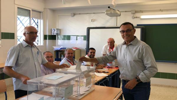 Huelva.-26M.-Caraballo llama a la participación y a elegir entre 'un modelo progresista' y otro 'con tendencia agresiva'