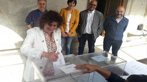 26M.- La Candidata Del BNG A La Alcaldía De Santiago Llama A Votar Para 'Abrir Una Nueva Etapa Con Un Futuro Mejor'