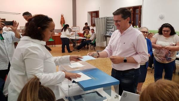 Almería.-26M.- Sánchez Teruel anima a votar para 'que los gobiernos se elijan con participación de una inmensa mayoría'