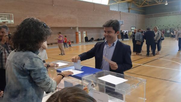 26M.-Los Candidatos A La Alcaldía De Huesca Desean Que La Participación Sea Alta En Una Jornada Que Transcurre Tranquila