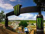 Meta de carrera de motocross