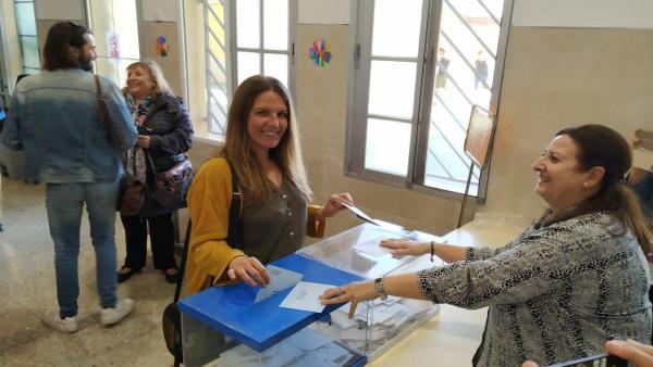 26M.- Esther Sanz (Unidas Podemos) Anima Al Voto Para 'Conseguir Una Europa Social Y Feminista'