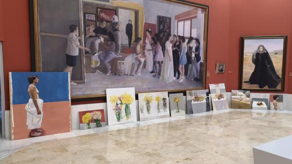 Almería.- El ejercicio realizado Nacho Vergara, ganador del VIII Curso de Realismo y Figuración de Olula del Río