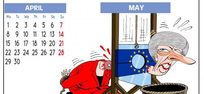 'Calendario inglés 2019', viñeta de Asier.
