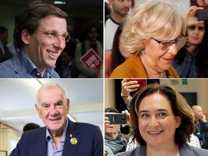 Carmena, Almeida, Maragall y Colau