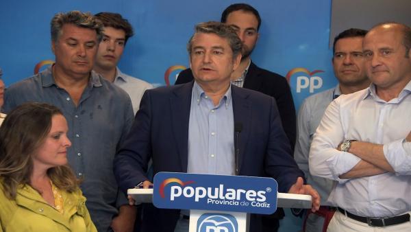 Cádiz.-26M-M.- Sanz felicita al PSOE por la victoria en la provincia y destaca que el PP vuelve a ser la segunda fuerza