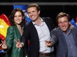 Casado celebra los resultados de Ayuso y Almeida