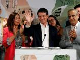 Manuel Valls durante la noche de las elecciones.