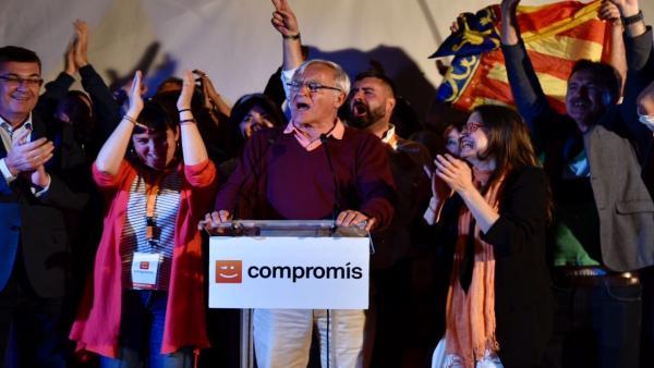Elecciones 26M 2019. Seguimiento de resultados de Compromís en Valencia