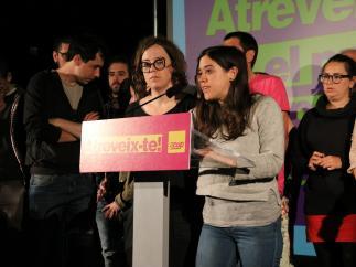 La candidata de la CUP, Anna Saliente en la noche electoral.