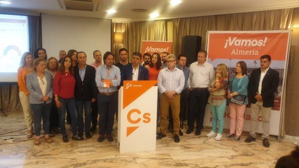 Almería.-26M-M.-Cazorla (Cs) dice que los resultados 'no cumplen las expectativas' pero aún se ve 'llave' de gobierno