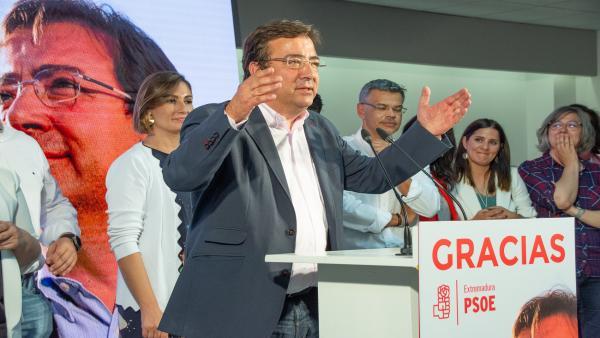 Elecciones 26M 2019. Seguimiento de resultados del PSOE en Extremadura