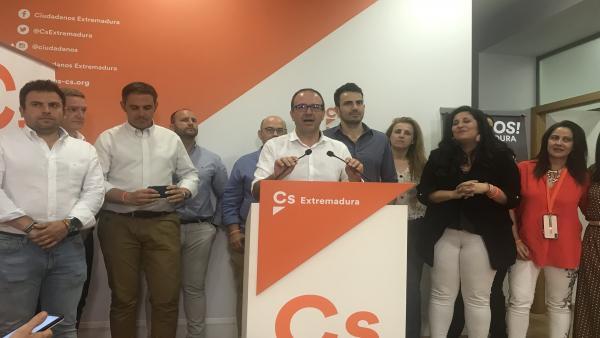 26M.- A.- Polo Valora El Crecimiento En Votos Y Dice Que Gobernará En Cáceres Y Badajoz Quien 'Asuma El Programa De Cs'
