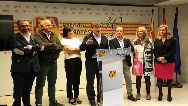 26M-A.- Aliaga Asegura Que El PAR Seguirá Defendiendo 'Las Políticas De Moderación' Y Los 'Interés De Aragón'
