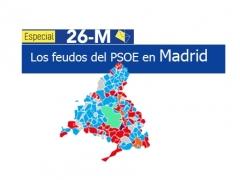 Los feudos socialistas tras las elecciones municipales en Madrid