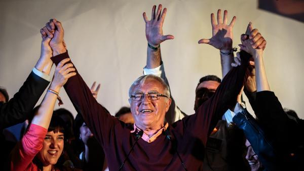 El candidato de Compromis a la alcaldía de Valencia, Joan Ribó