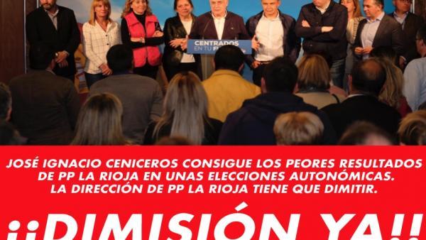 Nace en Twitter #DimiteCeniceros pidiendo un nuevo lider que 'deje paso a gente que quiera levantar este partido'