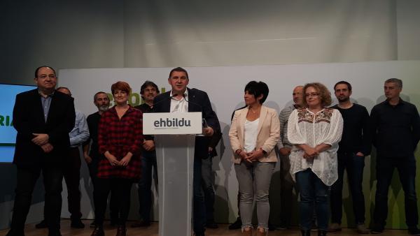 26M.- Otegi Cree Que, Pese A Que Gipuzkoa 'Prefiere Acuerdos Con EH Bildu', El PNV Pactará Con Los Socialistas