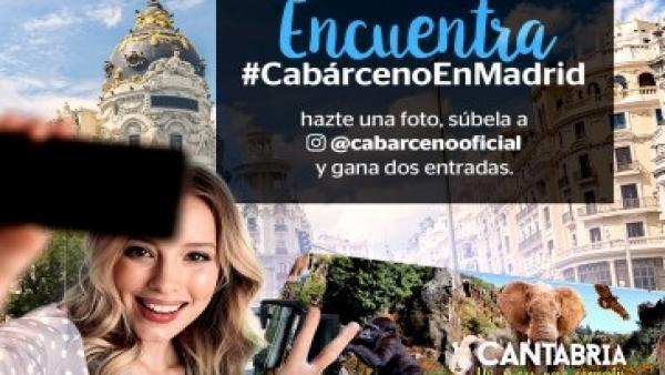 El Parque de Cabárceno se promociona en Madrid con imágenes del Parque y un concurso en Instagram