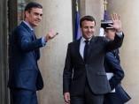 Macron recibe a Sánchez en el Palacio del Elíseo