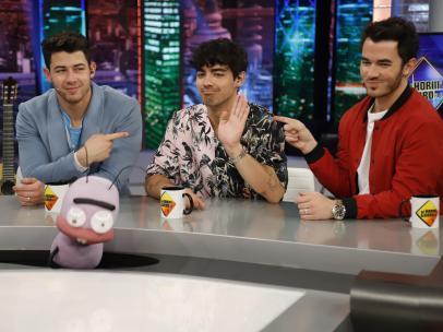 Los Jonas Brothers, en 'El hormiguero'.